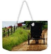 Amish Buggy On Dirt Road Weekender Tote Bag