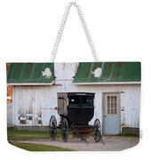 Amish Buggy White Barn Weekender Tote Bag