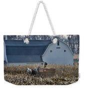 Amish Corn Picking And 1919 Barn Weekender Tote Bag