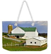 Amish Country Barn Weekender Tote Bag by Frozen in Time Fine Art Photography