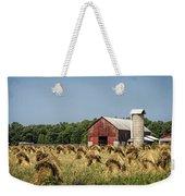 Amish Country Wheat Stacks And Barn Weekender Tote Bag