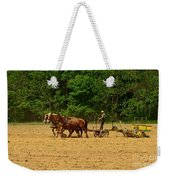 Amish Farmer Tilling The Fields Weekender Tote Bag