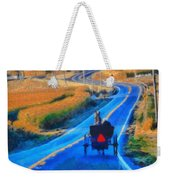 Amish Horse And Buggy In Autumn Weekender Tote Bag