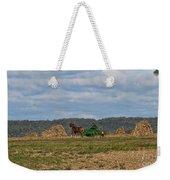 Amish Man Boy Buggy Weekender Tote Bag