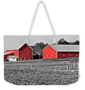 Amish Red Barn And Farm Weekender Tote Bag