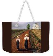 Amish Road Weekender Tote Bag by Linda Simon