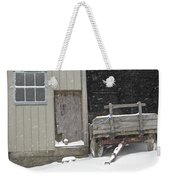 Amish Snowfall Weekender Tote Bag