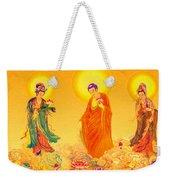Amitabha And Two Bodhisattvas Weekender Tote Bag