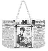 Ammoniaphone, 1885 Weekender Tote Bag