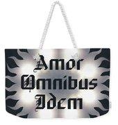 Amor Omnibus Idem Weekender Tote Bag