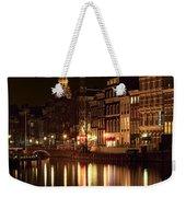 Amsterdam At Night Weekender Tote Bag