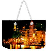 Amsterdam At Night Four Weekender Tote Bag