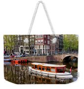 Amsterdam Canal And Houses Weekender Tote Bag