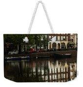Amsterdam Canal Houses In The Rain Weekender Tote Bag