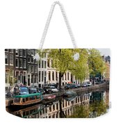 Amsterdam Canal In Spring Weekender Tote Bag