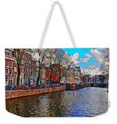 Amsterdam Canal In Spring Weekender Tote Bag