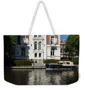 Amsterdam Canal Mansions - Bright White Symmetry  Weekender Tote Bag
