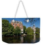Amsterdam Canal Mansions - Floating By Weekender Tote Bag