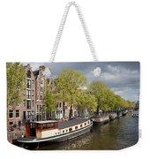 Amsterdam Canal Waterfront Weekender Tote Bag