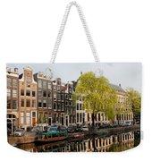 Amsterdam Houses Along The Singel Canal Weekender Tote Bag