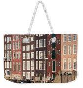 Amsterdam Houses Ar Sunset Weekender Tote Bag
