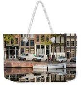 Amsterdam Houses By The Singel Canal Weekender Tote Bag