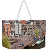 Amsterdam Houses From Above Weekender Tote Bag