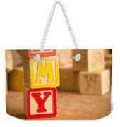Amy - Alphabet Blocks Weekender Tote Bag