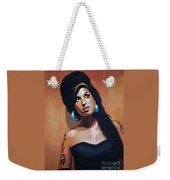 Amy Winehouse Weekender Tote Bag by Paul Meijering