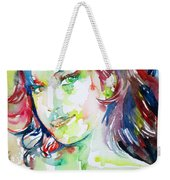 Amy Winehouse Watercolor Portrait.1 Weekender Tote Bag