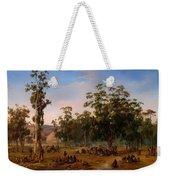 An Aboriginal Encampment Near The Adelaide Foothills Weekender Tote Bag