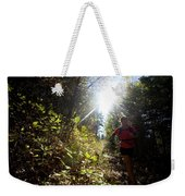 An Adult Woman Trail Running Weekender Tote Bag