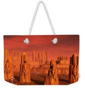 An Advanced Race Exploring The Ancient Weekender Tote Bag