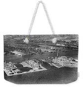 An Aerial View Of Ellis Island Weekender Tote Bag