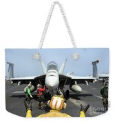 An Aircraft Director Signals Weekender Tote Bag by Stocktrek Images