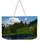 An Alpine Lake Foreground Mt Rainer Weekender Tote Bag