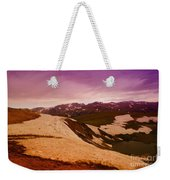 An Alpine Lake Near The Top Of Beartooth Pass  Weekender Tote Bag