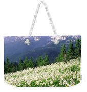 An Alpine Slope Turns White Weekender Tote Bag