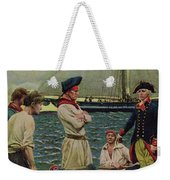 An American Privateer Taking A British Prize, Illustration From Pennsylvanias Defiance Weekender Tote Bag