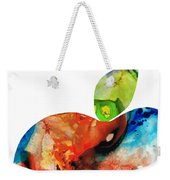 An Apple A Day - Colorful Fruit Art By Sharon Cummings  Weekender Tote Bag by Sharon Cummings