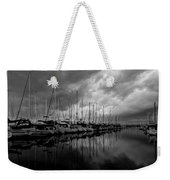 An Approaching Storm - Black And White Weekender Tote Bag