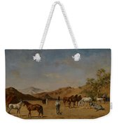 An Arabian Camp Weekender Tote Bag by Eugene Fromentin