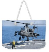 An Army Ah-64d Apache Helicopter Weekender Tote Bag