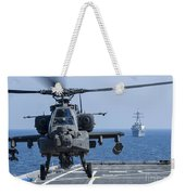 An Army Ah-64d Apache Helicopter Takes Weekender Tote Bag