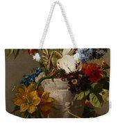 An Arrangement With Flowers Weekender Tote Bag by Georgius Jacobus Johannes van Os