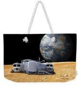 An Artists Depiction Of A Lunar Base Weekender Tote Bag