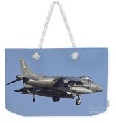 An Av-8b Harrier II Flying Over Yuma Weekender Tote Bag