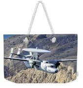 An E-2c Hawkeye Aircraft Flies Weekender Tote Bag