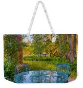 An Early Morning On The Deck At Cottonwood Cottage Weekender Tote Bag