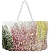 An Early Snowfall Weekender Tote Bag